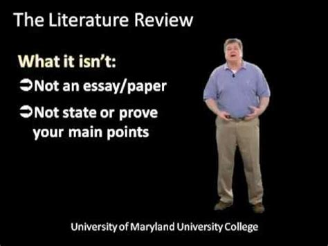 How to do literature review for project